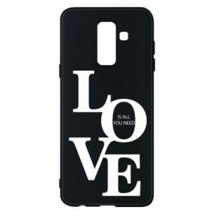 Etui na Samsung A6+ 2018 Love is all you need