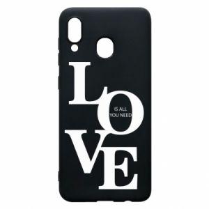 Etui na Samsung A20 Love is all you need