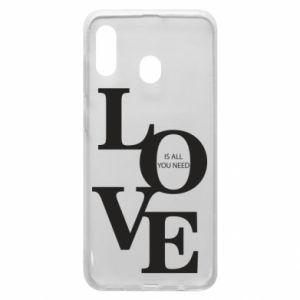 Etui na Samsung A30 Love is all you need
