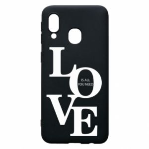 Etui na Samsung A40 Love is all you need
