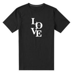 Męska premium koszulka Love is all you need