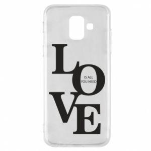 Etui na Samsung A6 2018 Love is all you need