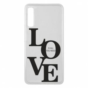 Etui na Samsung A7 2018 Love is all you need