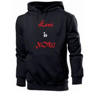 Men's hoodie Love is now