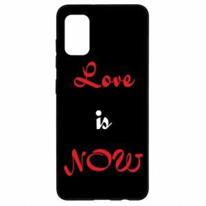 Etui na Samsung A41 Love is now