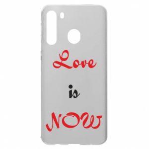 Etui na Samsung A21 Love is now
