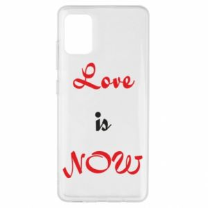 Etui na Samsung A51 Love is now