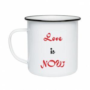Enameled mug Love is now
