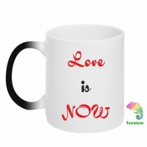 Kubek-magiczny Love is now