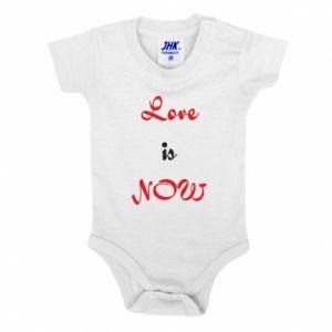 Baby bodysuit Love is now