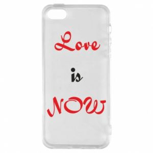 Etui na iPhone 5/5S/SE Love is now