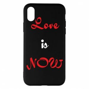 Etui na iPhone X/Xs Love is now