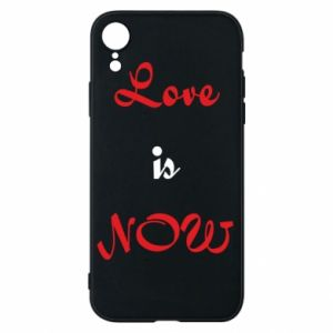 Etui na iPhone XR Love is now