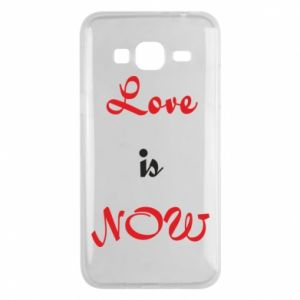 Phone case for Samsung J3 2016 Love is now