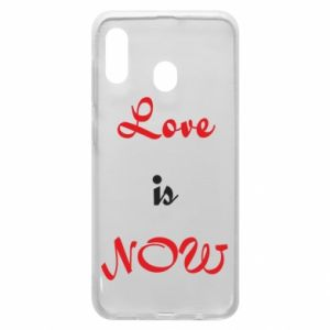 Phone case for Samsung A30 Love is now