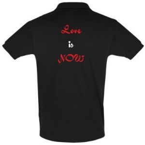 Men's Polo shirt Love is now