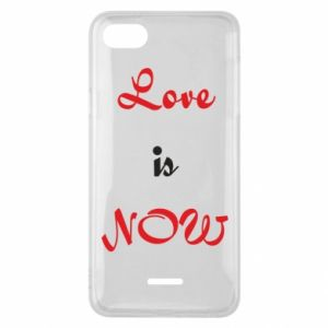 Phone case for Xiaomi Redmi 6A Love is now