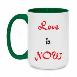 Two-toned mug 450ml Love is now