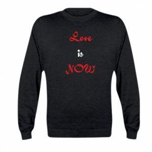 Bluza dziecięca Love is now