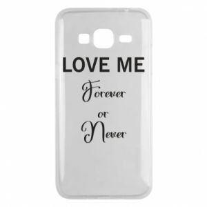 Etui na Samsung J3 2016 Love me forever or never