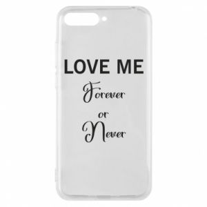 Etui na Huawei Y6 2018 Love me forever or never