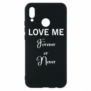 Etui na Huawei P20 Lite Love me forever or never