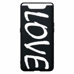 Etui na Samsung A80 Love napis