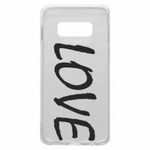 Etui na Samsung S10e Love napis