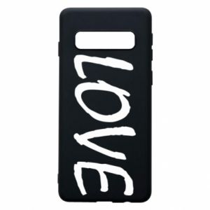 Etui na Samsung S10 Love napis