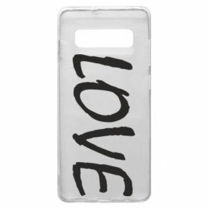 Etui na Samsung S10+ Love napis