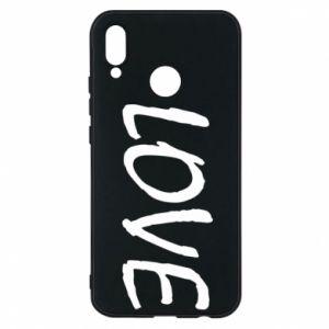 Etui na Huawei P20 Lite Love napis