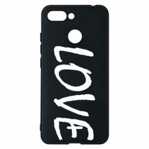 Etui na Xiaomi Redmi 6 Love napis