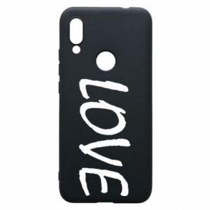 Etui na Xiaomi Redmi 7 Love napis