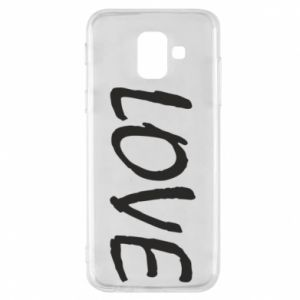 Etui na Samsung A6 2018 Love napis