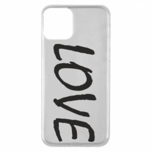 Etui na iPhone 11 Love napis