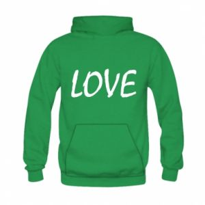 Bluza z kapturem dziecięca Love napis