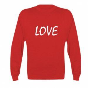 Bluza dziecięca Love napis