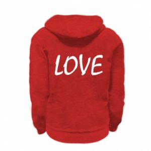 Bluza na zamek dziecięca Love napis