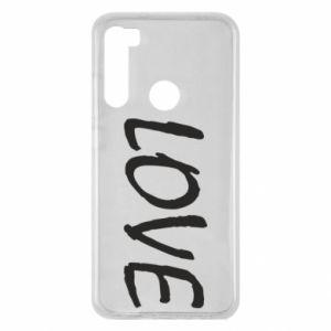 Etui na Xiaomi Redmi Note 8 Love napis