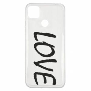 Etui na Xiaomi Redmi 9c Love napis