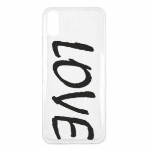 Etui na Xiaomi Redmi 9a Love napis