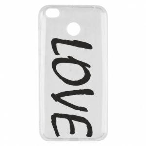 Etui na Xiaomi Redmi 4X Love napis