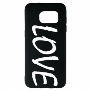 Etui na Samsung S7 EDGE Love napis