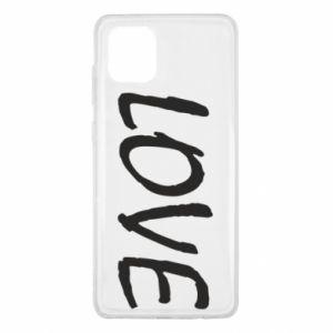 Etui na Samsung Note 10 Lite Love napis