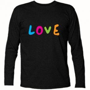 Koszulka z długim rękawem Love, color