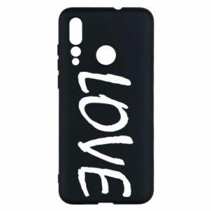 Etui na Huawei Nova 4 Love napis