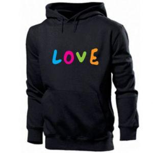 Bluza z kapturem męska Love, color