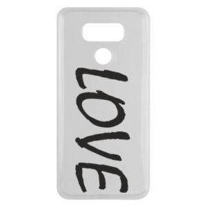 Etui na LG G6 Love napis