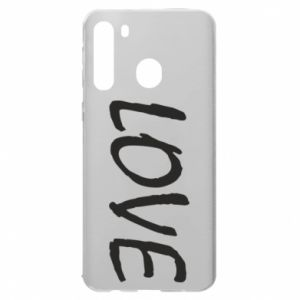 Etui na Samsung A21 Love napis