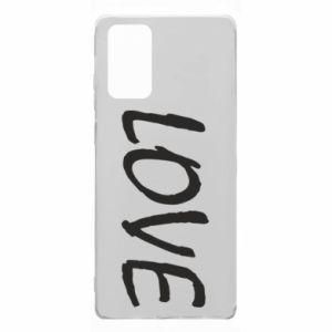 Etui na Samsung Note 20 Love napis